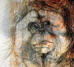 "Detail from painting ""Sumatran Family"""